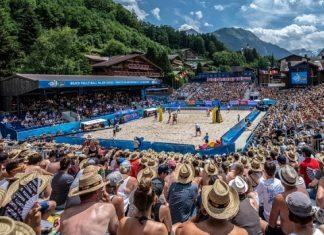 Arena fica localizada em vila nos alpes suíços